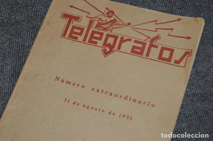 Coleccionismo de Revistas y Periódicos: LOTE DE 2 REVISTAS TELÉGRAFOS Y TALONARIO TELEGRAMAS PARA AMÉRICA - AÑOS 30 - VINTAGE - HAZ OFERTA - Foto 7 - 111921823
