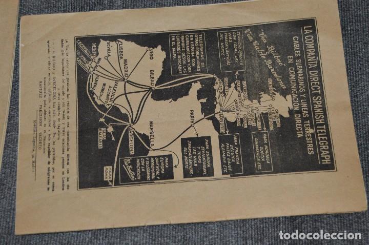 Coleccionismo de Revistas y Periódicos: LOTE DE 2 REVISTAS TELÉGRAFOS Y TALONARIO TELEGRAMAS PARA AMÉRICA - AÑOS 30 - VINTAGE - HAZ OFERTA - Foto 9 - 111921823