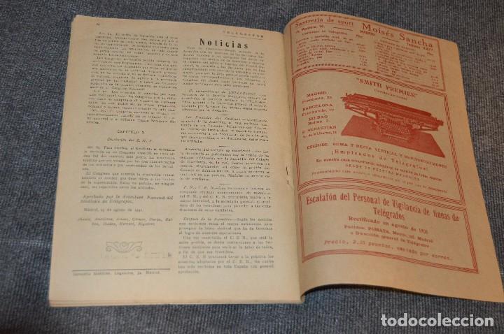 Coleccionismo de Revistas y Periódicos: LOTE DE 2 REVISTAS TELÉGRAFOS Y TALONARIO TELEGRAMAS PARA AMÉRICA - AÑOS 30 - VINTAGE - HAZ OFERTA - Foto 12 - 111921823