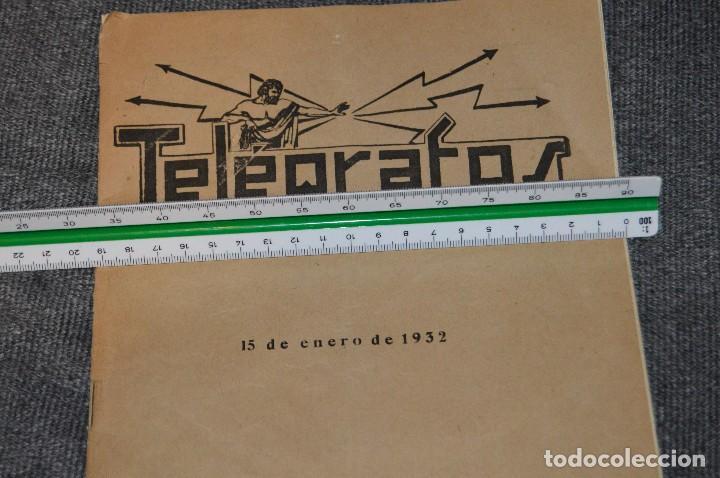 Coleccionismo de Revistas y Periódicos: LOTE DE 2 REVISTAS TELÉGRAFOS Y TALONARIO TELEGRAMAS PARA AMÉRICA - AÑOS 30 - VINTAGE - HAZ OFERTA - Foto 18 - 111921823