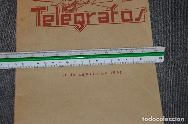Coleccionismo de Revistas y Periódicos: LOTE DE 2 REVISTAS TELÉGRAFOS Y TALONARIO TELEGRAMAS PARA AMÉRICA - AÑOS 30 - VINTAGE - HAZ OFERTA - Foto 20 - 111921823