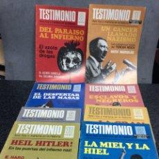 Coleccionismo de Revistas y Periódicos: TESTIMONIO, AYER, HOY Y MAÑANA EN LA HISTORIA,, LOTE 11 RAVISTAS - AÑOS 70. Lote 111983727