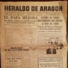 Coleccionismo de Revistas y Periódicos: PERIÓDICO HERALDO DE ARAGON, ZARAGOZA 17 DE MAYO DE 1981 - EPIDEMIA DE NEUMONIA ATIPICA. Lote 112027579