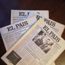 Coleccionismo de Revistas y Periódicos: PERIÓDICO EL PAIS - LOTE DE 4 PERIÓDICOS - MARZO DE 1981. Lote 112030331