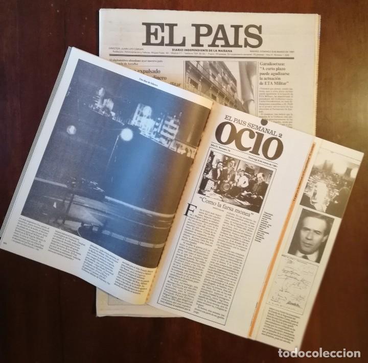 Coleccionismo de Revistas y Periódicos: PERIÓDICO Y SUPLEMENTO - EL PAIS SEMANAL -LAS 18 HORAS -GOLPE DE ESTADO -DOMINGO 8 DE MARZO DE 1981 - Foto 2 - 112031663