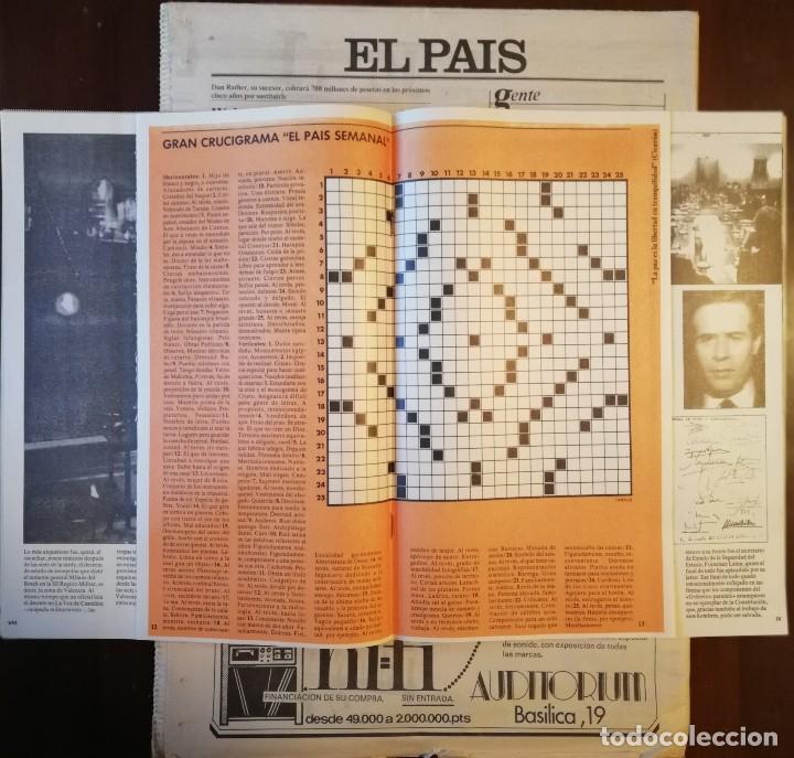 Coleccionismo de Revistas y Periódicos: PERIÓDICO Y SUPLEMENTO - EL PAIS SEMANAL -LAS 18 HORAS -GOLPE DE ESTADO -DOMINGO 8 DE MARZO DE 1981 - Foto 4 - 112031663