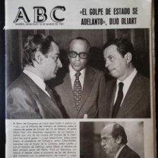 Coleccionismo de Revistas y Periódicos: PERIÓDICO ABC MIERCOLES 18 DE MARZO DE 1981 - EL GOLPE DE ESTADO SE ADELANTO , DIJO OLIART. Lote 112034963