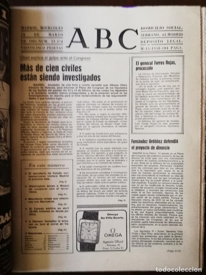 Coleccionismo de Revistas y Periódicos: Periódico ABC Miercoles 18 de Marzo de 1981 - EL GOLPE DE ESTADO SE ADELANTO , DIJO OLIART - Foto 3 - 112034963