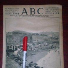 Coleccionismo de Revistas y Periódicos: PLAYA LA ARENAS - BILBAO -1924 RECORTE PRENSA- REVERSO PUB. YER. Lote 112052691