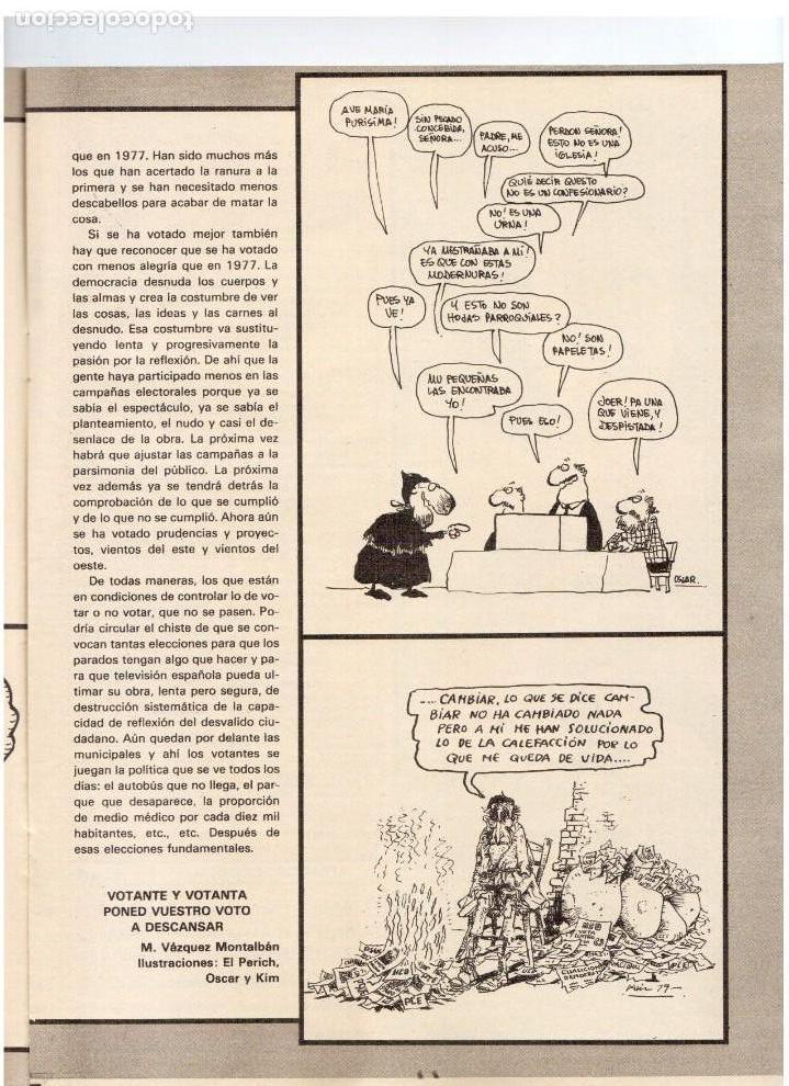 Coleccionismo de Revistas y Periódicos: EP.1979. bárbara rey.SERRAT.CAMILO SEXTO.CLAUDIA CARDINALE.JERUSALEN.VAZQUEZ MONTALBAN.OCTAVIO PAZ. - Foto 8 - 112071067