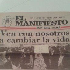 Coleccionismo de Revistas y Periódicos: TRANSICION. EL MANIFIESTO Nº4 JUNIO 1978.PAGINAS DEDICADAS AL I CONGRESO DE UJCE. Lote 112114087