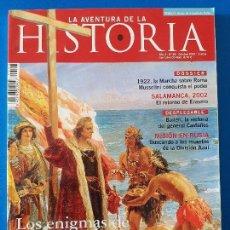 Coleccionismo de Revistas y Periódicos: LA AVENTURA DE LA HISTORIA 48 (OCTUBRE 2002). COLÓN. DIVISIÓN AZUL. BAILÉN. MUSSOLINI 1922. Lote 112136383