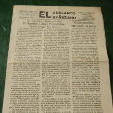 Coleccionismo de Revistas y Periódicos: LA BAÑEZA: EL ADELANTO BAÑEZANO NUM.1639 - 12 FEBRERO 1966. Lote 112139703
