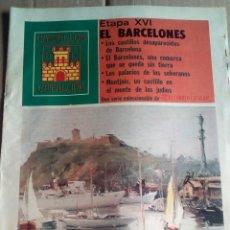 Coleccionismo de Revistas y Periódicos: CASTILLOS CATALUÑA 1975 MONTJUIC-CASTILLOS DESAPARECIDOS DE BARCELONA-. Lote 112252023