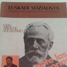 Coleccionismo de Revistas y Periódicos: TRANSICION.PARTIDO SOCIALISTA DE EUSKADI PSOE EUZKADI SOZIALISTA Nº 6 JUNIO 1977 ELECCIONES.HISTORIA. Lote 112308631