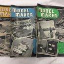 Coleccionismo de Revistas y Periódicos: MODEL MAKER, 3 REVISTAS 1954. MODELISMO, COCHES, AVIONES, BARCOS, MAQUETAS, PLANOS CONSTRUCCIÓN, USA. Lote 112309219