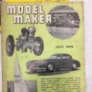 Coleccionismo de Revistas y Periódicos: MODEL MAKER, 11 REVISTAS 1956. MODELISMO, COCHES, AVIONES, BARCOS, MAQUETAS, PLANOS CONSTRUCCIÓN,USA. Lote 112310023