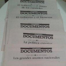 Coleccionismo de Revistas y Periódicos: DOCUMENTOS EL MUNDO 0CTUBRE 1992.10 AÑOS DE FELIPISMO. GOBIERNO DE PSOE Y FELIPE GONZALEZ 1982-1992. Lote 112318831