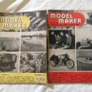 Coleccionismo de Revistas y Periódicos: MODEL MAKER, 2 REVISTAS 1952. MODELISMO, COCHES, AVIONES, BARCOS, MAQUETAS, PLANOS CONSTRUCCIÓN,USA. Lote 112337551