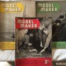 Coleccionismo de Revistas y Periódicos: MODEL MAKER, 3 REVISTAS 1953. MODELISMO, COCHES, AVIONES, BARCOS, MAQUETAS, PLANOS CONSTRUCCIÓN,USA. Lote 112337739