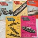 Coleccionismo de Revistas y Periódicos: MODEL MAKER, 5 REVISTAS DE 1964 MODELISMO, COCHES, AVIONES, BARCOS, MAQUETAS,PLANOS CONSTRUCCIÓN,USA. Lote 112339499