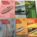 Coleccionismo de Revistas y Periódicos: MODEL MAKER & MODEL BOATS, 6 REVISTAS DE 1964, BARCOS, MAQUETAS,PLANOS CONSTRUCCIÓN,USA. Lote 112340855