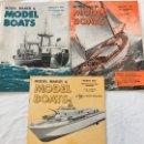 Coleccionismo de Revistas y Periódicos: MODEL MAKER & MODEL BOATS, 3 REVISTAS DE 1966, BARCOS, MAQUETAS,PLANOS CONSTRUCCIÓN,USA. Lote 112340191