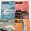 Coleccionismo de Revistas y Periódicos: MODEL BOATS, 4 REVISTAS DE 1967, BARCOS, MAQUETAS,PLANOS CONSTRUCCIÓN,USA. Lote 112343871