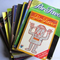 Coleccionismo de Revistas y Periódicos: POR FAVOR LOTE DE 47 REVISTAS + LO EMJOR DE POR FAVOR 1974 AÑOS 1974 A 1978 . Lote 112384979