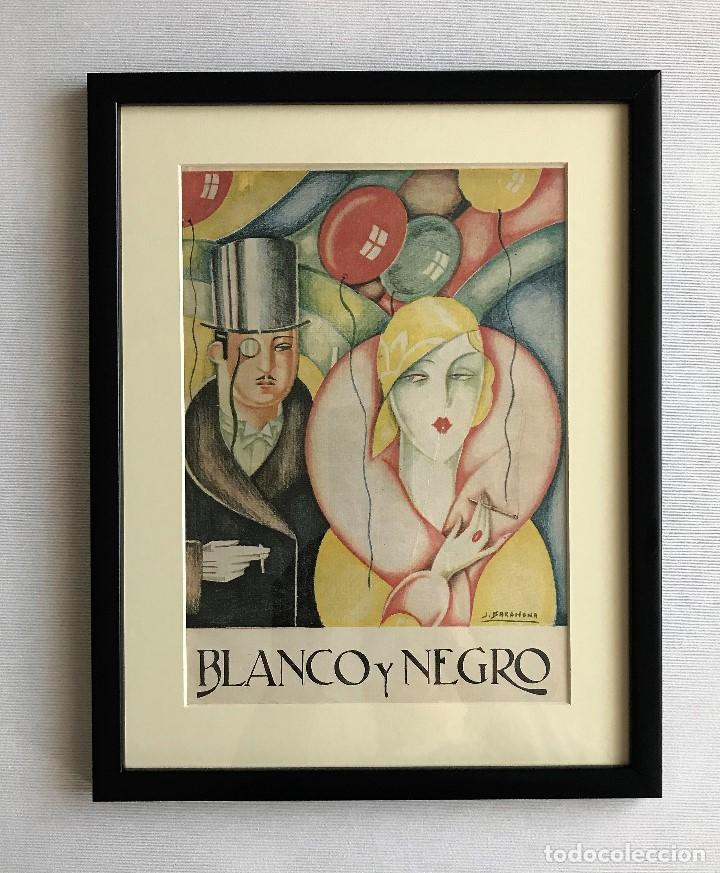PORTADA REVISTA BLANCO Y NEGRO ART DECO ENMARCADA (Coleccionismo - Revistas y Periódicos Antiguos (hasta 1.939))