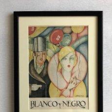 Coleccionismo de Revistas y Periódicos: PORTADA REVISTA BLANCO Y NEGRO ART DECO ENMARCADA. Lote 112445491