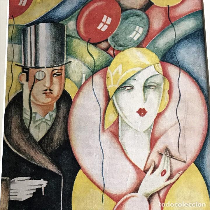 Coleccionismo de Revistas y Periódicos: Portada revista Blanco y negro art deco enmarcada - Foto 2 - 112445491