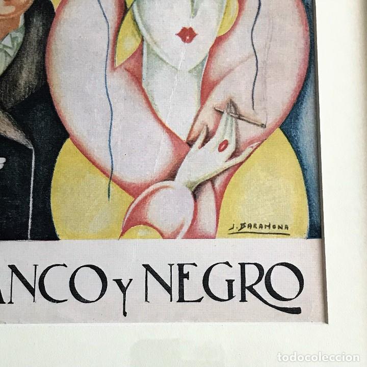 Coleccionismo de Revistas y Periódicos: Portada revista Blanco y negro art deco enmarcada - Foto 3 - 112445491