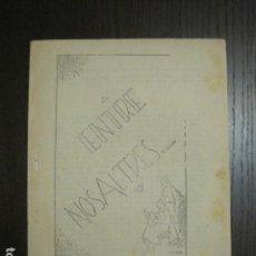 Coleccionismo de Revistas y Periódicos: GUERRA CIVIL-REVISTA - ENTRE NOSALTRES -1937-EL CANT DE LA SENYERA - VEURE FOTOS -(V-13.440). Lote 112445519