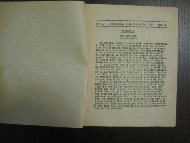 Coleccionismo de Revistas y Periódicos: GUERRA CIVIL-REVISTA - ENTRE NOSALTRES -1937-EL CANT DE LA SENYERA - VEURE FOTOS -(V-13.440) - Foto 4 - 112445519