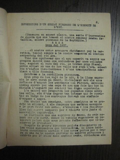 Coleccionismo de Revistas y Periódicos: GUERRA CIVIL-REVISTA - ENTRE NOSALTRES -1937-EL CANT DE LA SENYERA - VEURE FOTOS -(V-13.440) - Foto 6 - 112445519