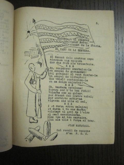Coleccionismo de Revistas y Periódicos: GUERRA CIVIL-REVISTA - ENTRE NOSALTRES -1937-EL CANT DE LA SENYERA - VEURE FOTOS -(V-13.440) - Foto 9 - 112445519