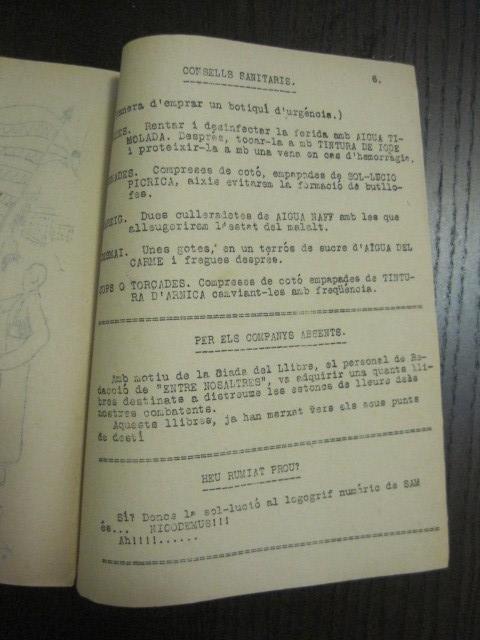 Coleccionismo de Revistas y Periódicos: GUERRA CIVIL-REVISTA - ENTRE NOSALTRES -1937-EL CANT DE LA SENYERA - VEURE FOTOS -(V-13.440) - Foto 10 - 112445519