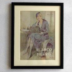 Coleccionismo de Revistas y Periódicos: PORTADA REVISTA BLANCO Y NEGRO ART DECO ENMARCADA. Lote 112445643
