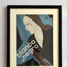 Coleccionismo de Revistas y Periódicos: PORTADA REVISTA BLANCO Y NEGRO ART DECO ENMARCADA. Lote 112445887