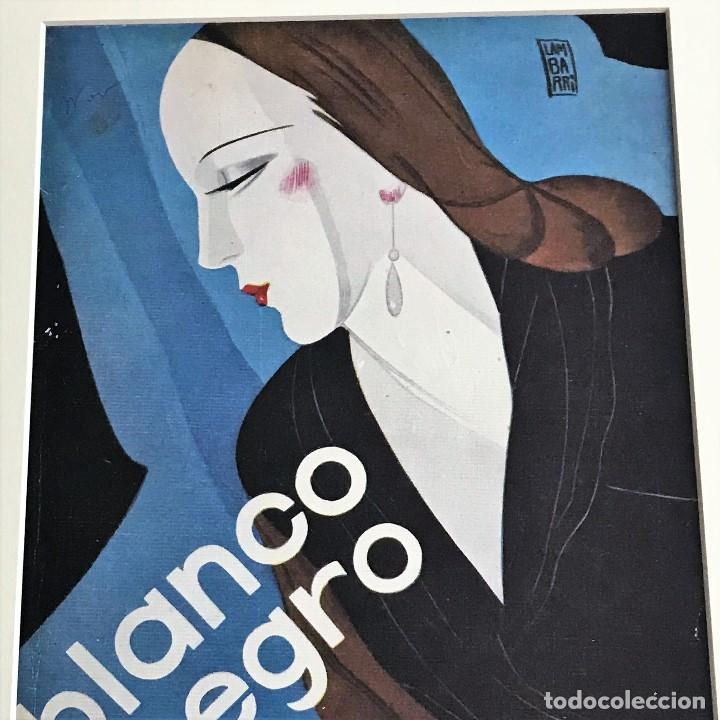 Coleccionismo de Revistas y Periódicos: Portada revista Blanco y negro art deco enmarcada - Foto 2 - 112445887