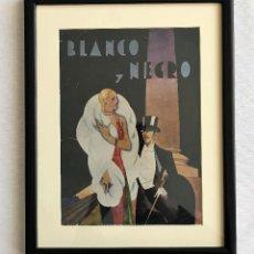 Coleccionismo de Revistas y Periódicos: PORTADA REVISTA BLANCO Y NEGRO ART DECO ENMARCADA. Lote 112446147