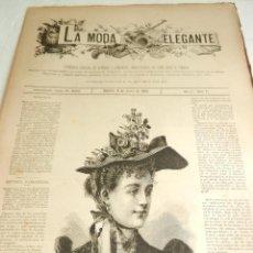 Coleccionismo de Revistas y Periódicos: REVISTA LA MODA ELEGANTE AÑO LI MADRID 6 DE JUNIO DE 1892 N. 21 CONTIENE PATRONES.. Lote 112459955