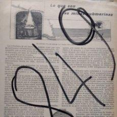 Coleccionismo de Revistas y Periódicos: MINAS SUBMARINAS. 1904. Lote 111748351