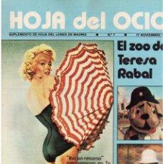 Coleccionismo de Revistas y Periódicos: 1980. HOJA DEL OCIO. MARILYN MONROE.TANIA DORIS.ENCARNA PASO.SARA MONTIEL.CHUCK Y JEFF.. Lote 112564443