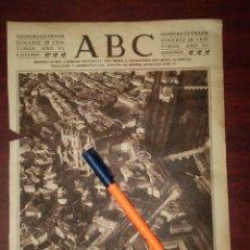 Coleccionismo de Revistas y Periódicos: BURGOS VISTA AEREA DESDE UN AEROPLANO -AÑO 1924-FOTOGRAFIA RECORTE PRENSA - REV. HENO PRAVIA. Lote 112570847