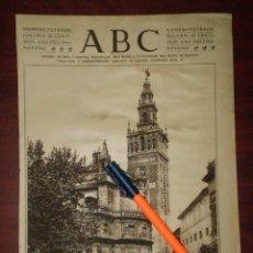 Coleccionismo de Revistas y Periódicos: ABSIDE DE LA CATEDRAL TORRE LA GIRALDA SEVILLA-AÑO 1923- RECORTE PRENSA - REV.HENO PRAVIA. Lote 112571279