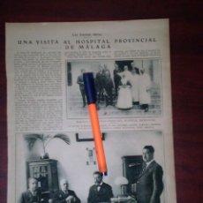 Coleccionismo de Revistas y Periódicos: HOSPITAL PROVINCIAL MALAGA - DOCTOR GALVEZ - SOR JOSEFA Y OTROS -AÑOS 20 REPORTAJE- RECORTE PRENSA -. Lote 112614715