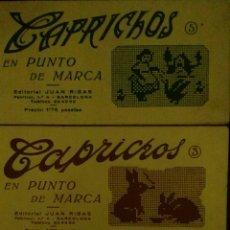Coleccionismo de Revistas y Periódicos: CAPRICHOS. ALBUM PUNTO DE CRUZ ANTIGUOS. N° 2, 3, 5. Lote 112645222