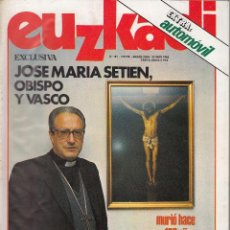 Coleccionismo de Revistas y Periódicos: REVISTA EUZKADI: Nº 191 / 23 MAYO 1985 - PARTIDO NACIONALISTA VASCO - PNV. Lote 112699967